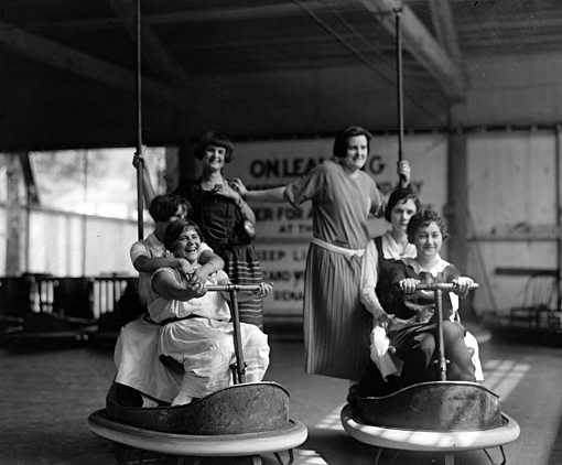vintage bumper cars photos
