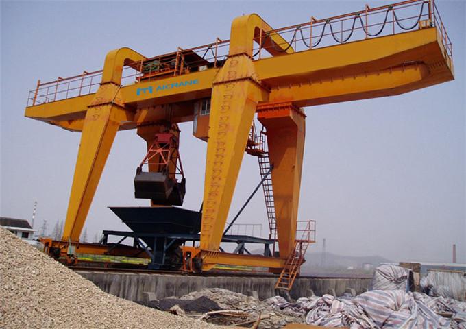 Grab crane gantry double-girder 20 tons when purchasing