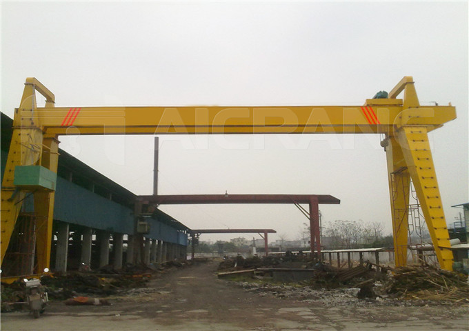 Buying double girder gantry crane 20 tons to China